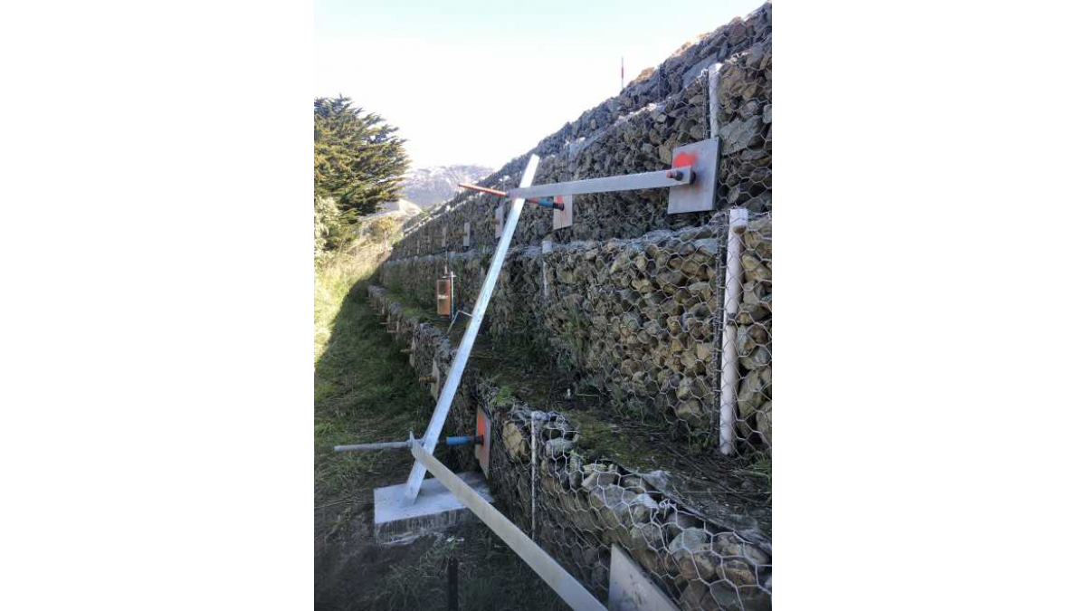 Tilt Sensors attached to Rock Wall